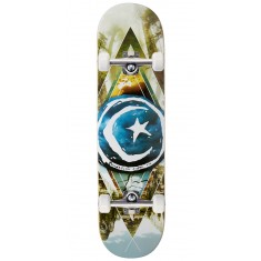 Foundation Star And Moon Geometry Skateboard Complete - 8.125""