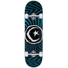 Foundation Star and Moon Zig Zag Skateboard Complete - 8.375""