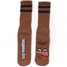 Toy Machine Poo Poo Head Socks - Brown