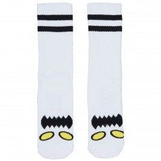 Toy Machine Skateboards Monster Face Socks - White
