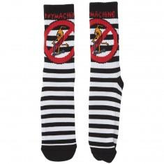 Toy Machine No Scooter Striped Socks - Black/White