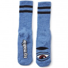 Toy Machine Sect Eye Socks - Heather Blue