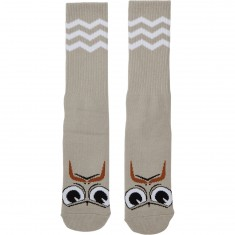 Toy Machine Turtleboy Stache Socks - Grey