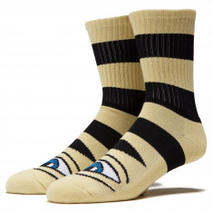 Toy Machine Sect Eye Big Stripe Socks - Camel
