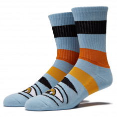 Toy Machine Sect Eye Big Stripe Socks - Baby Blue