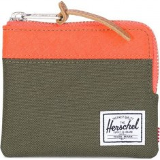 Herschel Johnny Wallet - Forest Night/Vermillion Orange