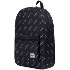 Herschel X Independent Packable Daypack Backpack - Black/FTR Print