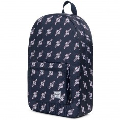 Herschel X Independent Packable Daypack Backpack - Navy/FTR Print