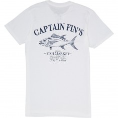 Captain Fin Fish Market T-Shirt - White
