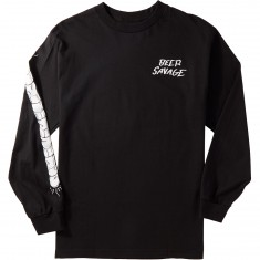 Beer Savage Staff Long Sleeve T-Shirt - Black