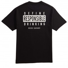 Beer Savage Drink Responsibly T-Shirt - Black