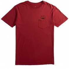 Roark Fear the Sea Pocket T-Shirt - Burgundy