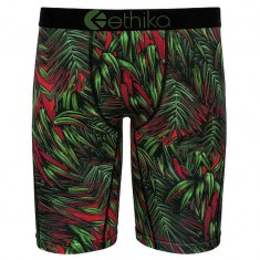 Ethika Electric Palms Underwear - Green/Red