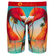 Ethika Flamingo Island Underwear - Blue/Orange
