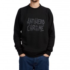 Chrome X Anti-Hero Crew Sweatshirt - Black