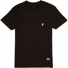 Grizzly OG Bear Embroidered Pocket T-Shirt - Black