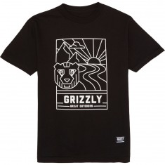 Grizzly Linescape T-Shirt - Black