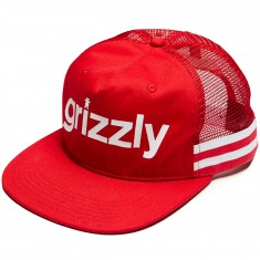 Grizzly Heritage Outdoor Snapback Hat - Red