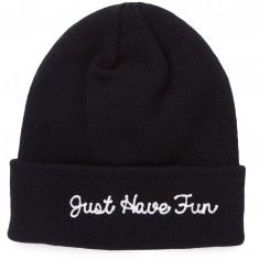 Just Have Fun Script Beanie - Black