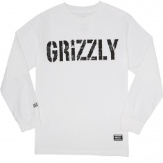 Grizzly Headlines Longsleeve T-Shirt - White