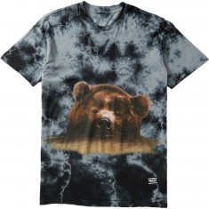 Grizzly Submerged T-Shirt - Black Tie Dye