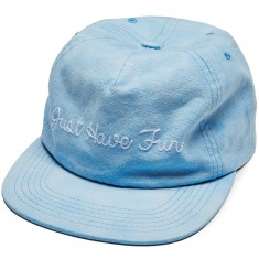 Just Have Fun Faded Self Strap Back Hat - Blue