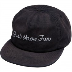 Just Have Fun Faded Self Strap Back Hat - Navy