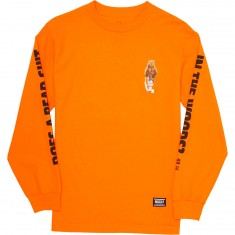 Grizzly Upper Decker Longsleeve T-Shirt - Orange