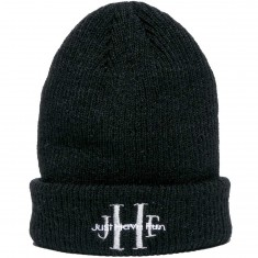 Just Have Fun Stoned Wash Beanie - Black