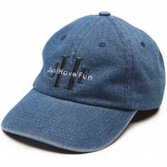 Just Have Fun Stoned Wash Denim Dad Hat - Washed Blue