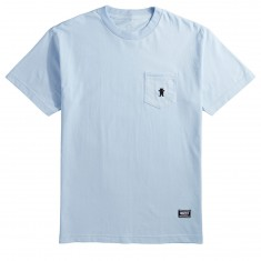 Grizzly OG Bear Embroidered Pocket T-Shirt - Powder Blue/Black