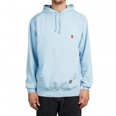Grizzly OG Bear Embroidered Hoodie - Powder Blue/Red