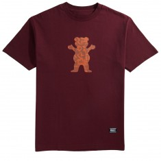 Grizzly Sedona OG Bear T-Shirt - Burgundy