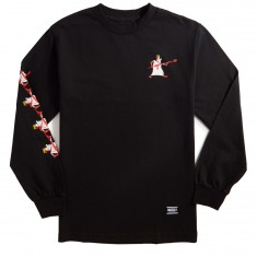 Grizzly Flush Long Sleeve T-Shirt - Black