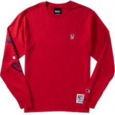 Grizzly X Champion Behind The Arc Longsleeve T-Shirt - Red