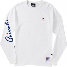 Grizzly X Champion Behind The Arc Longsleeve T-Shirt - White