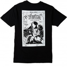 Grizzly X Venom Pen And Ink T-Shirt - Vintage Black