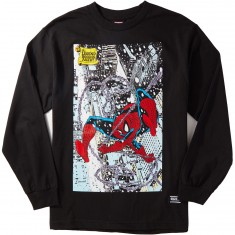 Grizzly X Spiderman Cover Longsleeve T-Shirt - Black