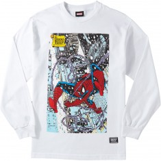 Grizzly X Spiderman Cover Longsleeve T-Shirt - White