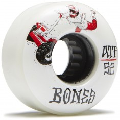 Bones ATF Seg Cross Skateboard Wheels - White - 52mm