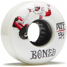 Bones ATF Seg Cross Skateboard Wheels - White - 54mm