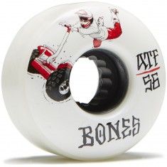 Bones ATF Seg Cross Skateboard Wheels - White - 56mm
