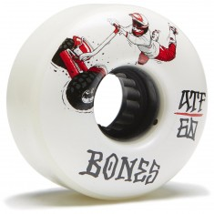 Bones ATF Seg Cross Skateboard Wheels - White - 60mm