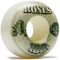 Bones 100's #11 Skateboard Wheels - Natural - 51mm