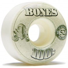 Bones 100's #11 Skateboard Wheels - Natural - 52mm