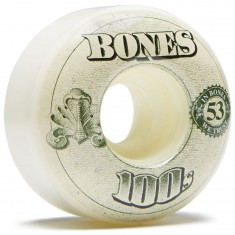Bones 100's #11 Skateboard Wheels - Natural - 53mm
