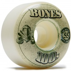Bones 100's #11 Skateboard Wheels - Natural - 55mm