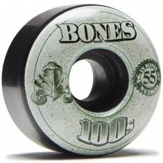 Bones 100's #11 Skateboard Wheels - Black - 55mm