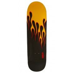 Powell-Peralta Hot Rod Flames Skateboard Deck - Black/Yellow - 9.375""