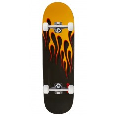 Powell-Peralta Hot Rod Flames Skateboard Complete - Black/Yellow - 9.375""